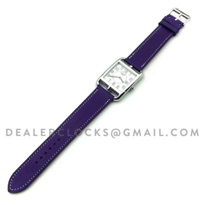 Cape Cod GM Quartz Steel on Purple Fjord Leather Strap