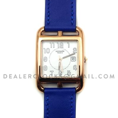 Cape Cod GM Quartz Rose Gold on Blue Fjord Leather Strap