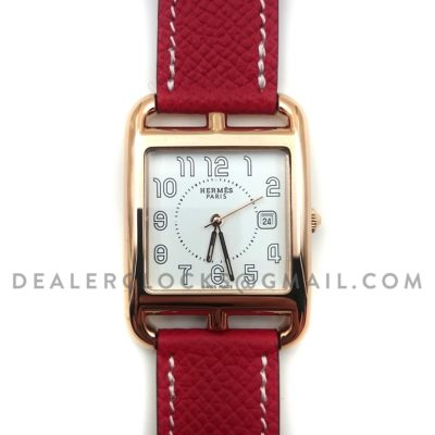 Cape Cod GM Quartz Rose Gold on Red Epsom Leather Strap