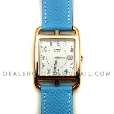 Cape Cod GM Quartz Rose Gold on Light Blue Epsom Leather Strap