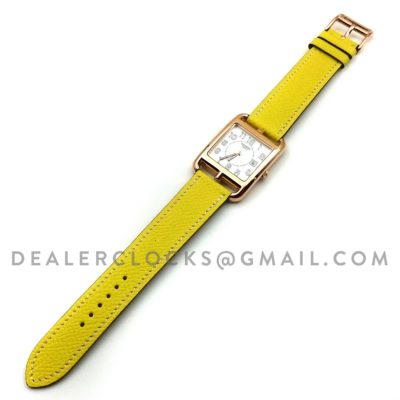 Cape Cod GM Quartz Rose Gold on Yellow Epsom Leather Strap