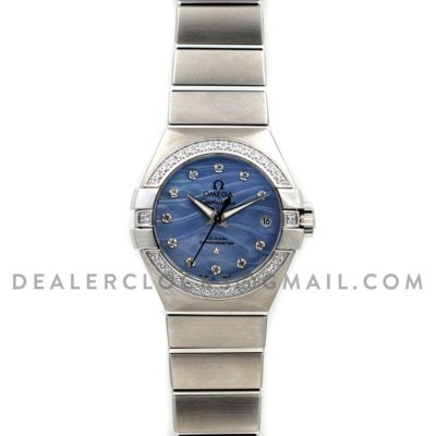 Constellation Ladies 27mm Blue Mother of Pearl Dial with Diamonds