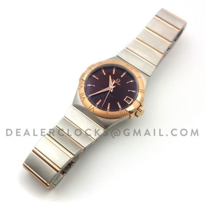 Constellation 38mm Brown Dial Bi Metal Rose Gold