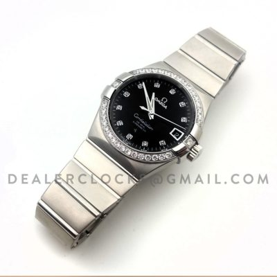 Constellation 38mm Black Dial with Diamonds