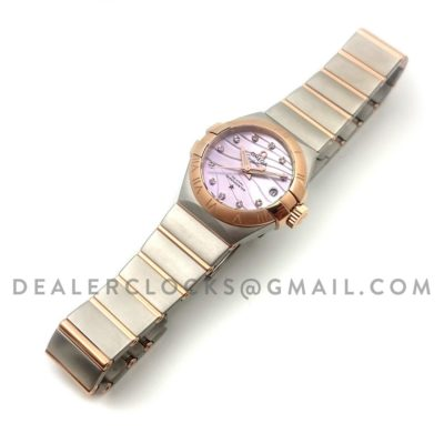 Constellation Ladies 27mm Pink Mother of Pearl Dial Bi Metal Rose Gold