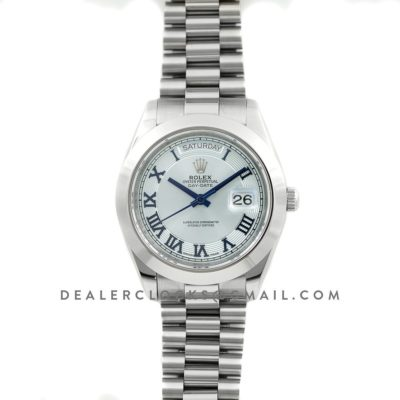 Day-Date II 218206 President Platinum Ice Blue Dial