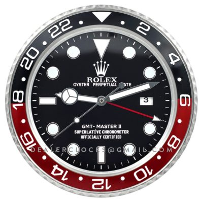 XL GMT Master II Series Steel (Black/Red Bezel)