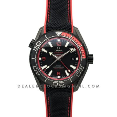 "Seamaster Planet Ocean GMT ""Deep Black"" Red"