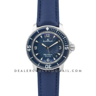 Fifty Fathoms Blue Dial in Steel