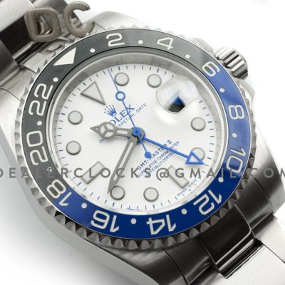 GMT Master II 116710 BLNR White Dial in Steel