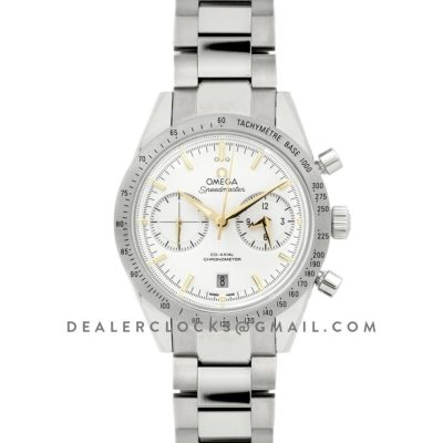 Speedmaster '57 Co-Axial White/Gold Dial on Steel Bracelet