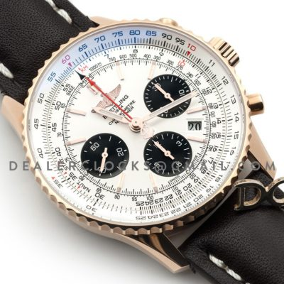 Navitimer 01 Chronograph Silver Dial in Rose Gold