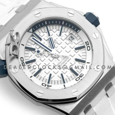 Royal Oak Offshore Diver Steel White Dial 15710ST SIHH 2017