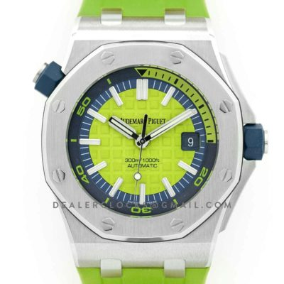Royal Oak Offshore Diver Steel Green Dial 15710ST SIHH 2017