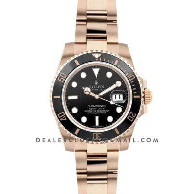 Submariner in Rose Gold on Bracelet