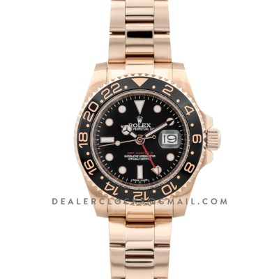 GMT Master II in Rose Gold on Bracelet