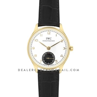 Portuguese Hand Wound Eight Days IW545405 White Dial in Gold
