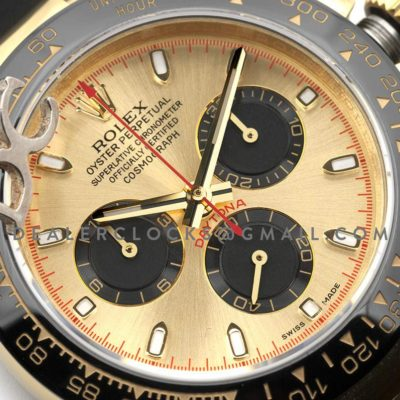 Daytona 116518LN Champagne Red Dial in Yellow Gold