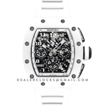 RM 011 Automatic Flyback Chronograph White Ghost