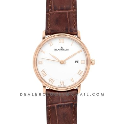 Villeret Ultra Thin Whte Dial in Rose Gold
