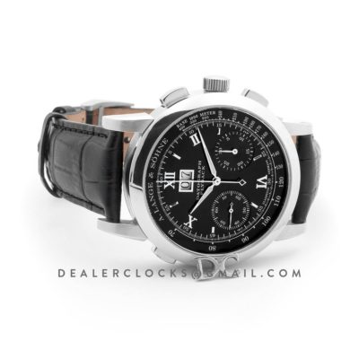 Datograph Chronograph Flyback Black Dial in Steel
