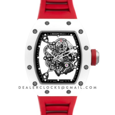 RM 055 White Bubba Watson White Ceramic on Red Rubber