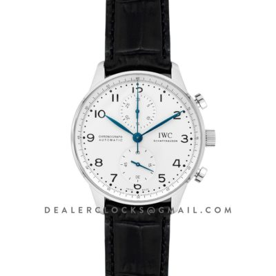 Portugieser Chronograph Edition 150 Years IW371601 White Dial in Steel