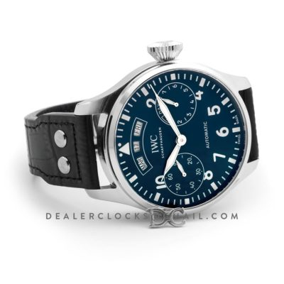 Big Pilot's Watch Annual Calendar Edition 150 Years IW502708 Blue Dial in Steel