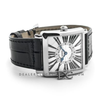 Master Square White Dial in Steel