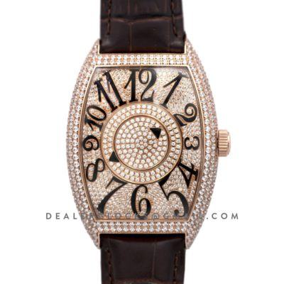 Double Mystery Curvex in Diamond Dial on Rose Gold