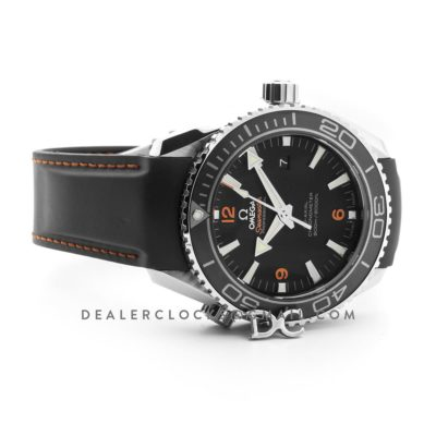 Seamaster Planet Ocean 600m Co-Axial 45.5mm with Orange Markers Black Dial on Black Rubber Strap
