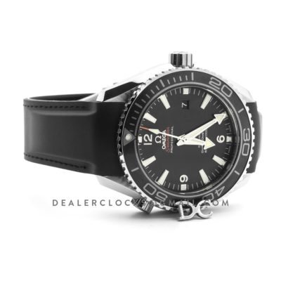 Seamaster Planet Ocean 600m Co-Axial 45.5mm with Silver Markers Black Dial on Black Rubber Strap