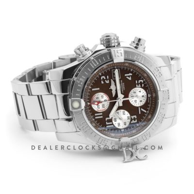 Colt Chronograph 44mm Brown Dial in Steel on Steel Bracelet