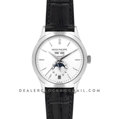 Complications 5396G White Dial with Steel Markers in White Gold