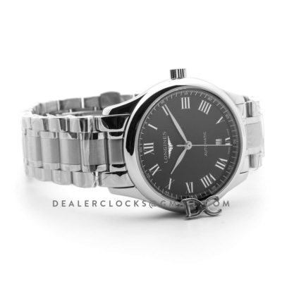 The Longines Master Collection Black Dial in Steel on Bracelet