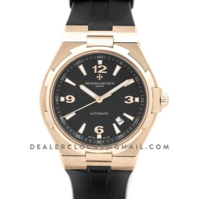 Overseas Automatic Black Dial in Rose Gold