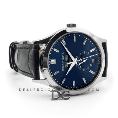 Complications 5396G Blue Dial with Steel Markers in White Gold