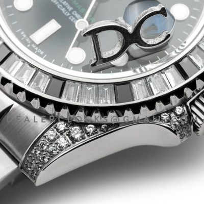 GMT Master II 116710 Black Dial in Steel with Paved Diamond Bezel