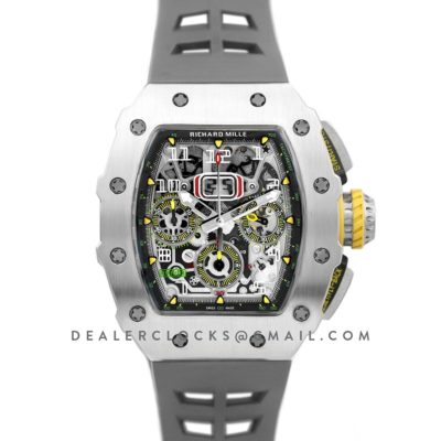 RM 011-03 Automatic Flyback Chronograph in Titanium on Grey Rubber