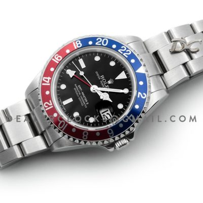 GMT Master II 16750 Pepsi Black Dial in Steel