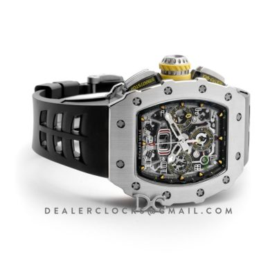 RM 011-03 Automatic Flyback Chronograph in Titanium on Black Rubber