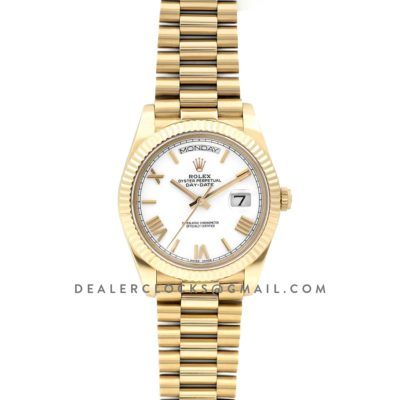 Day-Date 40 228238 White Dial in Yellow Gold