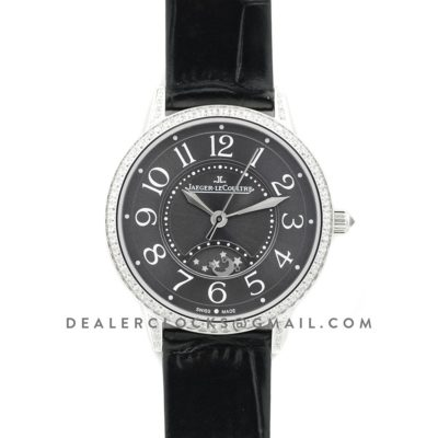 Rendez-Vous Night & Day Grey Dial in Steel on Black Leather Strap