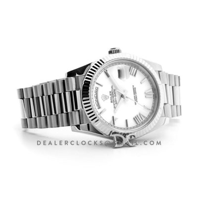 Day-Date 40 228239 White Dial in White Gold