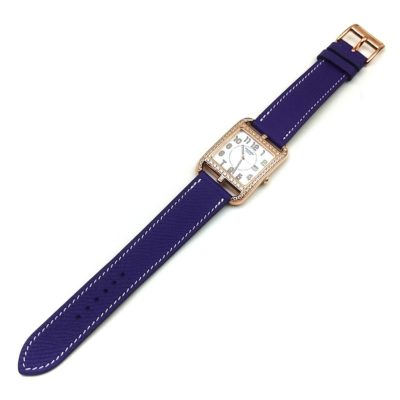 Cape Cod GM Quartz Rose Gold with Diamond Bezel on Purple Epsom Leather Strap