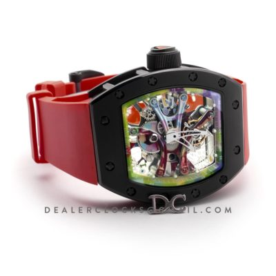 RM 068-01 Tourbillon Cyril Kongo on Red Rubber Strap