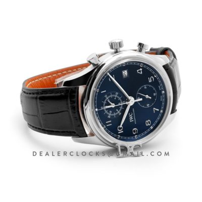 Portuguese Chronograph Series Classic IW390406 Blue Dial in Steel