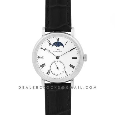 Vintage Portofino Hand Wound IW544805 White Dial in Steel