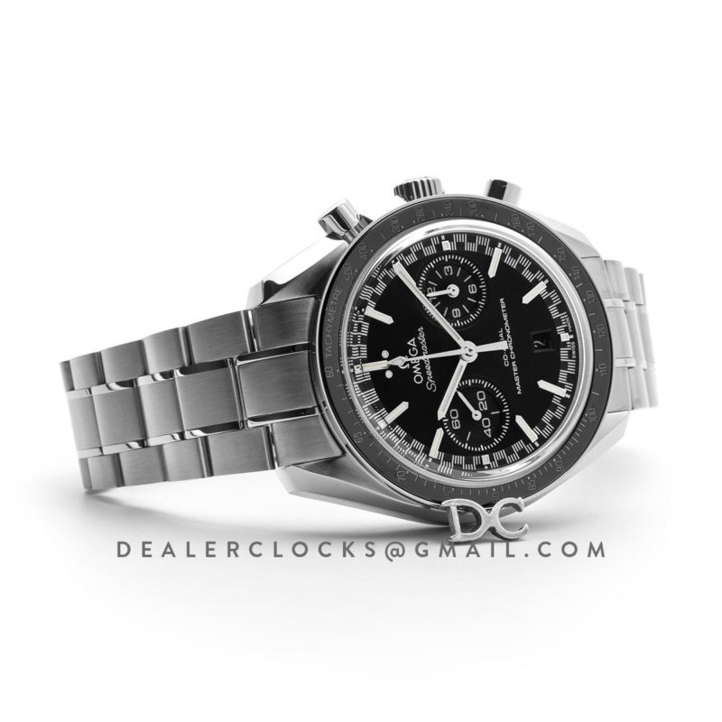 Racing Omega Co-Axial Master Chronometer Black Dial in Steel