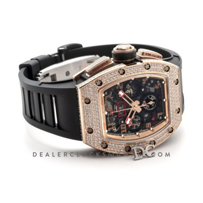 "RM 011 Automatic Flyback Chronograph Rose Gold with Set Diamonds Limited Edition ""Red Kite"""